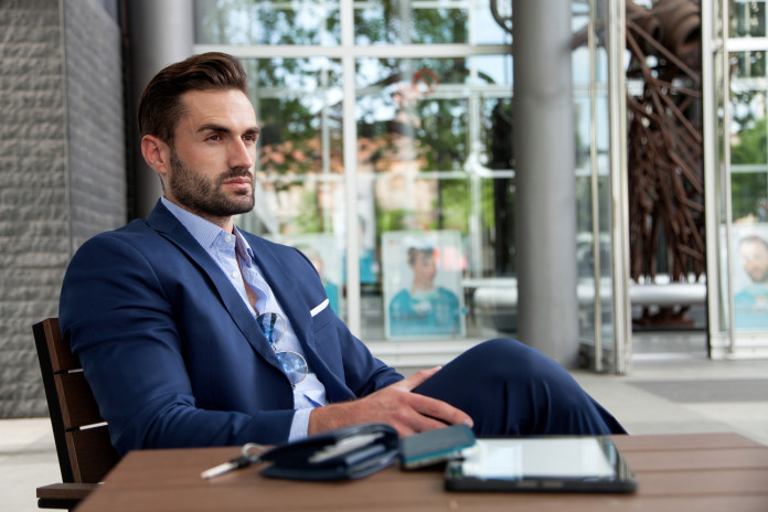 Businessman on a break