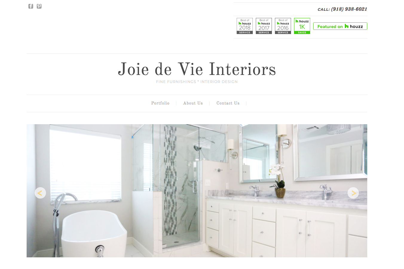 Joie De Vie Interiors - Web Design