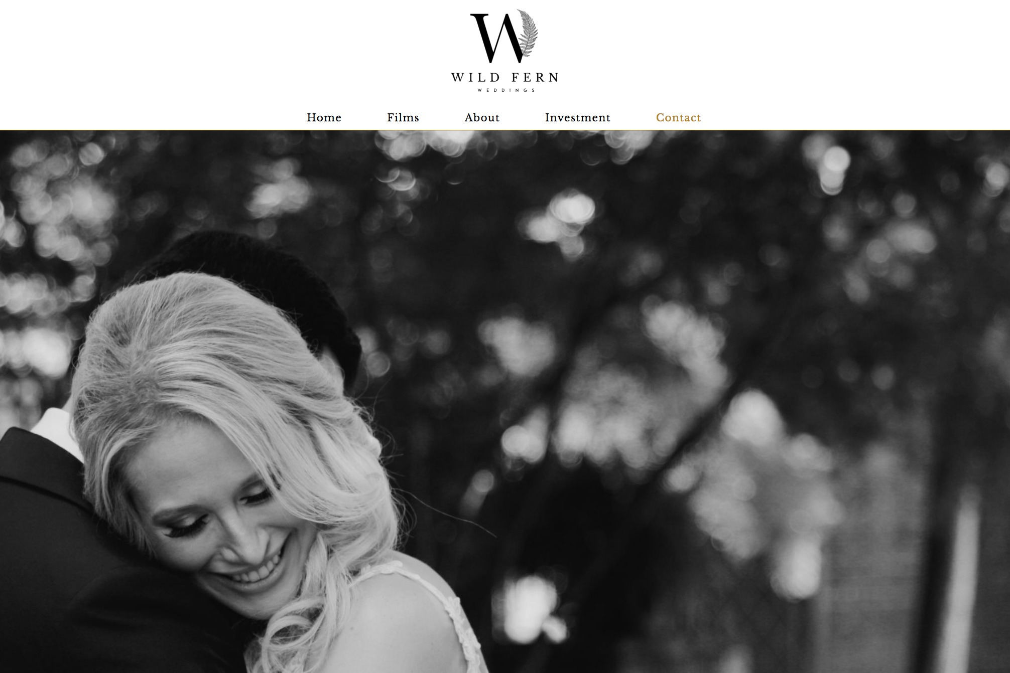 Web Design - Wild Fern Weddings