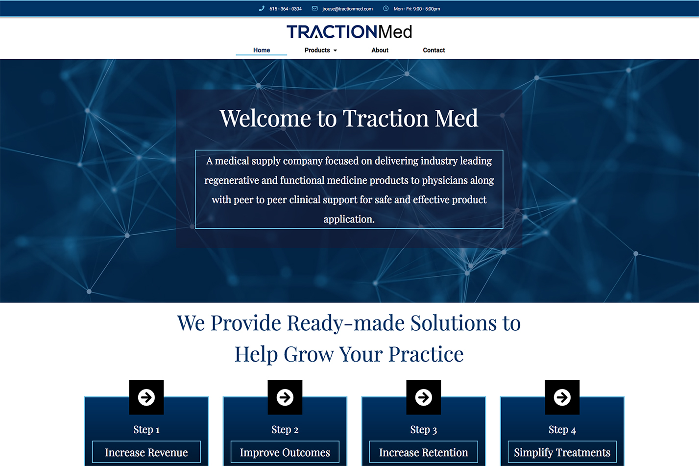Website for Pharmacy Distribution Company