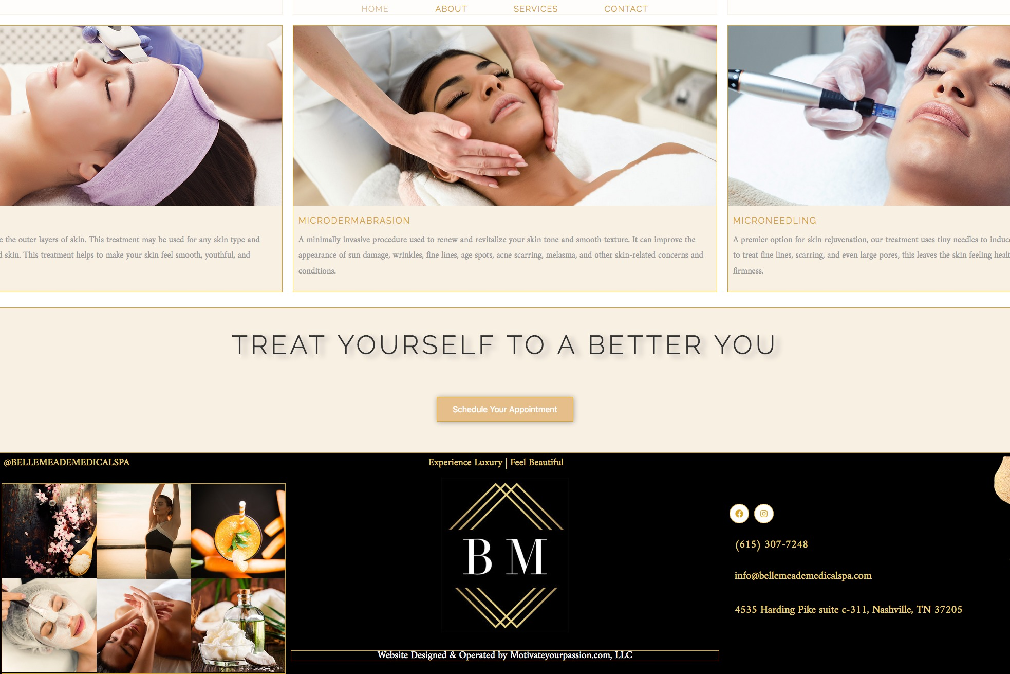 Website for medical spa